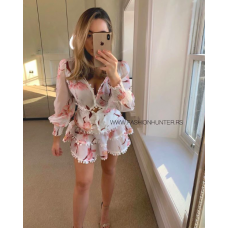 HIGH QUALITY FLORAL FRILL DRESS